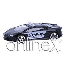 Coche Policía Blanco y Negro Deportivo Escala 1:64  a1806