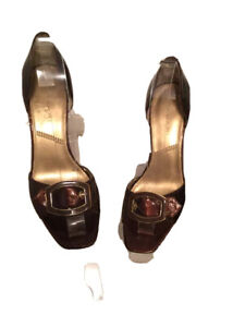 Tahari Women's Pumps Riley Copper Brown Color Patent Leather Sexy Shoes 7.5 M