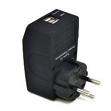 Ceptics Type H 2 USB Israel Travel Adapter 4 in 1 Power Plug Universal Socket