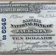 MS  1902 $10   ♚♚ JACKSON, MISSISSIPPI ♚♚  THE CAPITAL NB