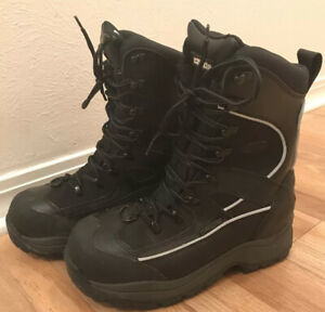 Castle X Force Winter Boots Mens Size 8 Dry X Snowmobile Boots Black