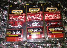 Matchbox Collectibles Coca-Cola lot of 3 1921 Model T, 1962 VW BEETLE, 57 VETTE
