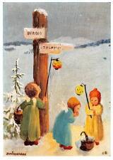 "vintage blank greeting cards  ARS SACRA Schönermark""angel find the way""1344"""