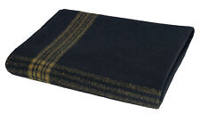 Wool Blanket Navy Blue Gold Stripes 62 x 80 Camping Hiking Winter Rothco 1081
