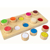 Kids Wooden Touch And Match Sensory Board Toy For The Blind And Autistic WA
