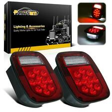 2x 39 LED Stud Mount Stop Turn Tail Lights Lamp for Jeep Wrangler CJ/YJ/JK/TJ