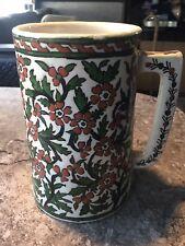 Large Old Islamic Pottery Tankard Stein Isnik Style Turkish Persian