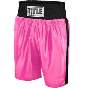 Title Boxing Classic Edge Satin Performance Boxing Trunks