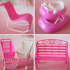 4 items / lot  sling chair supermarket trolley walker furniture for barbie doll
