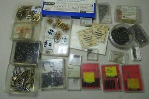 Konvolut Kleinteile f. Taschenuhr - Bastler Uhrmacher Zeiger Schlüssel Schrauben