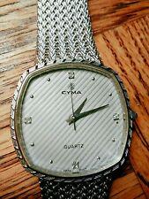 MINT CYMA LE Locle silver plated Quartz Watch