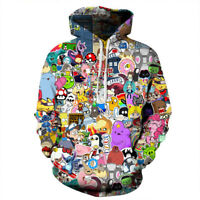 3D Print Cartoon Anime Zip Hoodie Women Men Kids Casual Sweatshirt Jacket Coats
