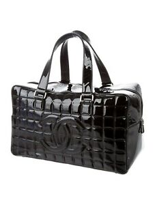 Authentic Chanel Black  bar Bowler