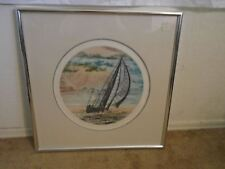 Signed Paul Geygan (1935-2000) #62/300 Titled Evening Sail Lithograph W/ COA