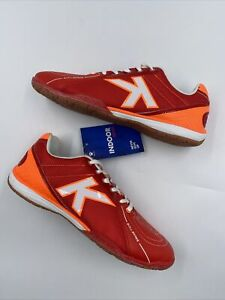 NEW Kelme Indoor Soccer Futsal Leather Shoes Mens Size 9.5 Red