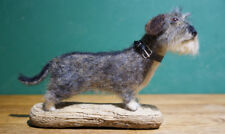 "Wire Haired Dachshund ""Libby"" - One of a kind, needle felted, dog, sculpture"