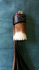 "Leather Cowhide Lighter Case. 3"" large Bic. Handmade Original Cowboy Case."