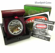 2009 DEADLY & DANGEROUS CROCODILE Silver Proof Coin
