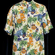 Reyn Spooner UC Cal Berkeley Golden Bears Hawaiian Shirt XL Vintage 90s Cotton