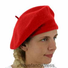 Chapeaux bérets rouges pour femme