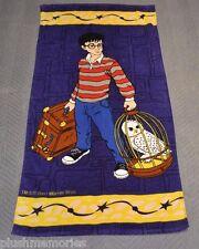 Harry Potter Beach Towel Purple Vintage Hedwig 2001 Warner Bros Sorcerers Stone