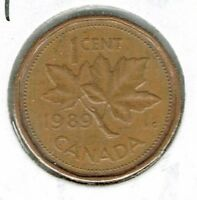 1989 Canadian Circulated One Cent Elizabeth II Coin!