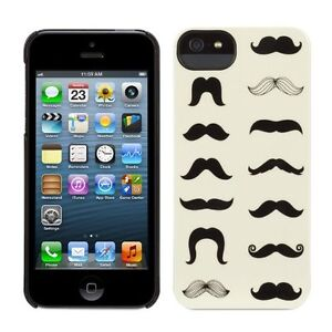 Griffin Mustachio Hard Shell Protective Snap On Case Cover For iPhone 5 5s SE