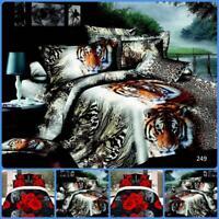 Sinle 3D Effect 4 Piece Printed Duvet Quilt Cover Luxury Complete Bedding Sets