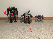 3 Battletech Series 1 Action Figures - Axman Bushwacker, Toad - Tyco Toys 1994