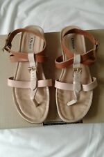 Dune strappy leather sandals size 39