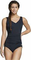 Speedo Women's Swimsuit One Piece Endurance- Shirred, Black, Size 14.0 ooXL