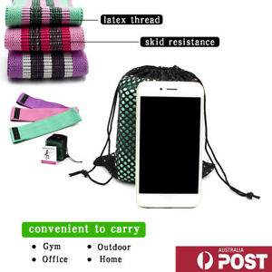 Resistance Bands Set 3 Fabric Booty Hip Circle Bands Workout Exercise Bag