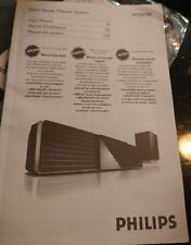 USER MANUAL PHILIPS DVD Home Theater System Model HTS8100