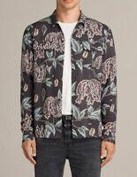 All Saints Peoria Floral Print Shirt - Long Sleeve - Slim Fit - Black - M & L