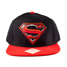 AWESOME DC COMICS SUPERMAN: MAN OF STEEL RED & BLACK SNAPBACK CAP HAT (NEW)