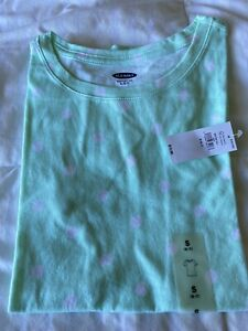 OLD NAVY Teal Tee For Girls Short Sleeve Size S (6-7) . NEW WITH TAG