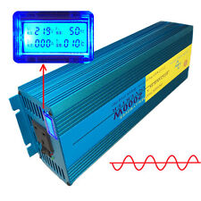 2000W/4000W Peak Pure Sine Wave Power Inverter DC 24V to AC 230V Car Caravan LCD
