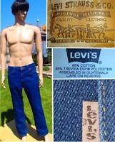 vintage 70's LEVI'S stretch jean dark indigo blue denim 40547 orange tag 36 x 30