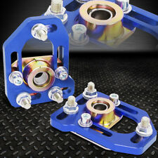 FOR 79-89 FORD MUSTANG FRONT ADJUSTABLE +/-3.0 CAMBER +/-2.0 CASTER PLATES BLUE