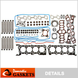 Fits 95-00 Ford Crown Victoria Lincoln Town Car 4.6L SOHC Head Gasket Set Bolts