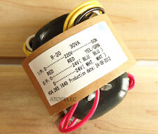 220V 30W r-core transformer for audio ampli amplificateur micros dac cd 24V+24V