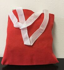 Packs of 6- Wholesale Red Color Durable Cotton Mini Gift Favor Bag Book Bag