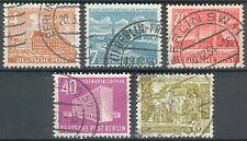Berlin Lot mit 5 Werten Mi.-Nr.112/13o,121/123o (MICHEL EURO 38,00) feinst