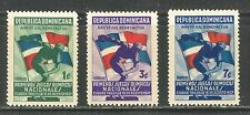 SPORT: DISCUS THROWER ON DOMINICAN REPUBLIC 1937 Scott 326-328, MINT, V.L. HINGE