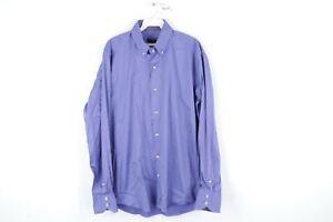 Mezlan Mens XL Long Sleeve Stretch Fit Button Down Solid Dress Shirt Purple