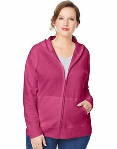 Just My Size Hoodie Women's Plus Size ComfortSoft Fleece Full Zip EcoSmart 1x-5x