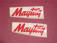 Maytag Engine Motor Wringer Washer Decal  Pair