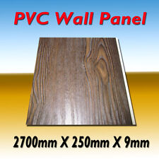 "10 PIECES (PACK) PVC WALL PANEL ""DARK  WOOD""  DESIGN"