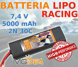 BATTERIA LIPO RACING JAMARA 7,4V 5000 MAH 2N 30C POTENTE LUNGA DURATA - 141390
