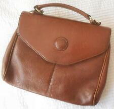 VINTAGE AMORNI MID BROWN GENUINE LEATHER SMALL SATCHEL STYLE BAG
